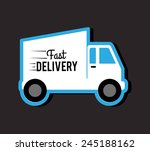 delivery design over gray... | Shutterstock .eps vector #245188162