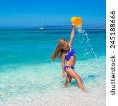 adorable little girl have fun... | Shutterstock . vector #245188666
