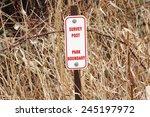 A Sign Indicates Where A Park...