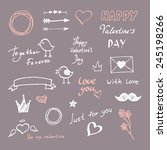 valentine's day set of label ... | Shutterstock .eps vector #245198266