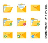 flat style icon set for web and ...