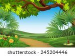 a beautiful landscape with... | Shutterstock .eps vector #245204446
