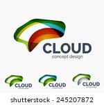 modern cloud company logo set ...   Shutterstock .eps vector #245207872