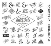 hand lettered ampersands and... | Shutterstock .eps vector #245210602