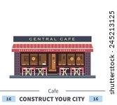 central cafe building. summer...