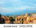 ancient greek amphitheatre in...   Shutterstock . vector #245213998