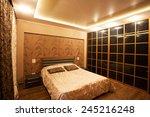 interior bedroom. bed in room...   Shutterstock . vector #245216248