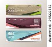 set of modern design banners... | Shutterstock .eps vector #245221552