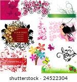 floral elements | Shutterstock .eps vector #24522304