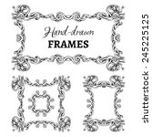 set of vintage ornate frames....   Shutterstock .eps vector #245225125