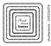 vector set of floral frames.... | Shutterstock .eps vector #245226376