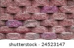 Pink Block Retaining Wall