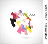creative circle abstract vector ... | Shutterstock .eps vector #245234326