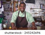 happy african american man... | Shutterstock . vector #245242696