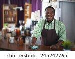 happy african american guy... | Shutterstock . vector #245242765