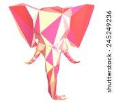 low polygonal elephant head...   Shutterstock . vector #245249236