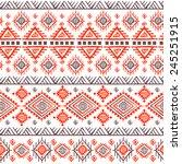 tribal vintage ethnic seamless...   Shutterstock . vector #245251915