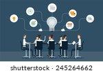 business teamwork meeting and... | Shutterstock .eps vector #245264662