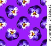 Seamless Pattern With Pansies