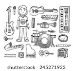 set of musical instruments | Shutterstock .eps vector #245271922