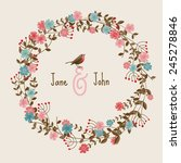 wedding invitation card with... | Shutterstock .eps vector #245278846