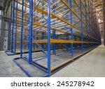 empty metal shelving system.   | Shutterstock . vector #245278942