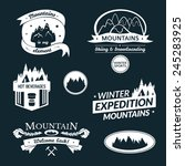 mountain logo and label set ... | Shutterstock .eps vector #245283925