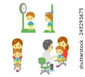pediatrics department   Shutterstock .eps vector #245293675