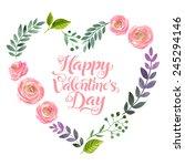 vector illustration of flowers... | Shutterstock .eps vector #245294146