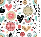 romantic vector seamless pattern | Shutterstock .eps vector #245304376