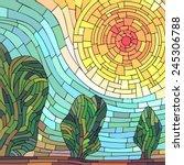 Square Mosaic Illustration...
