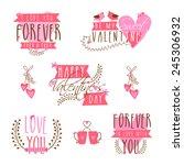 beautiful typographic... | Shutterstock .eps vector #245306932