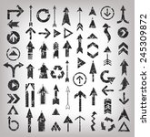 Grunge arrows illustration of black arrow icons,clean vector