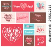 vector valentine's day set of... | Shutterstock .eps vector #245312116
