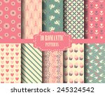 set of heart and sweet pink... | Shutterstock .eps vector #245324542