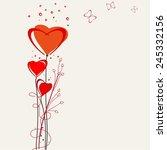 romantic valentine  backgrounds.... | Shutterstock .eps vector #245332156