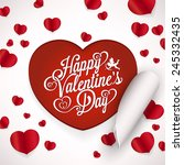 valentines day typographical... | Shutterstock .eps vector #245332435