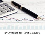 financial accounting stock... | Shutterstock . vector #245333398