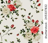 seamless floral pattern with... | Shutterstock . vector #245337832
