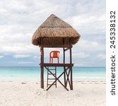 Lifeguard Tower On Caribbean...