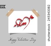 happy valentines day cards with ... | Shutterstock .eps vector #245343382