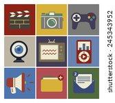 social media funky internet...   Shutterstock .eps vector #245343952