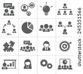 teamwork organization support... | Shutterstock .eps vector #245351566
