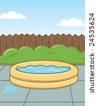 Kid Pool   Vector Illustration