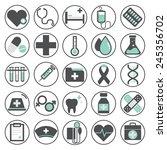 healthcare health medicine... | Shutterstock .eps vector #245356702