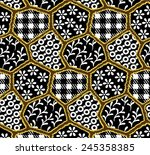 small pattern of black and... | Shutterstock .eps vector #245358385