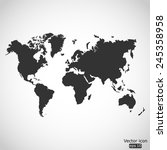 world map vector icon | Shutterstock .eps vector #245358958