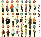 different people in full length ... | Shutterstock .eps vector #245359306