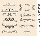 antique decorative elements ... | Shutterstock .eps vector #245359732