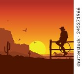 american cowboy on wild west... | Shutterstock .eps vector #245371966